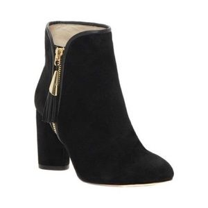 Louise et cie zirelle black suede/ leather boots 7
